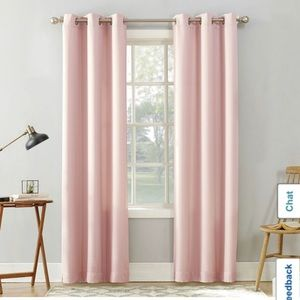 Set of 4 Pink Curtains 40 x 80 inch BRAND NEW